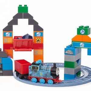ตัวต่อรถไฟ Mega Bloks Thomas & Friends Thomas Blue Mountain Coal Mine Building Set