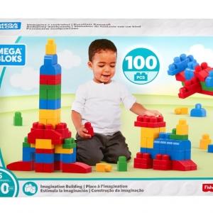 Mega Bloks Building Imagination Bag Classic 100 pcs ตัวต่อเสริมสร้างจินตนาการ จำนวน 100 ชิ้น โทนฟ้า