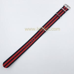 สายนาฬิกา ผ้านาโต้ สีดำ แดง