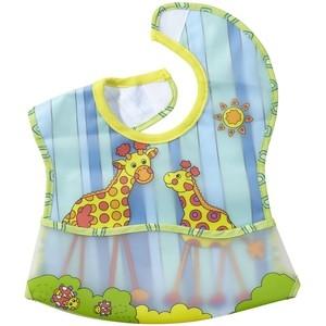 ผ้ากันเปื้อนเด็กพร้อมกระเป๋าด้านหน้าSassy EZ-Clean Pocketed Feeding Bib - Giraffe ลายยีราฟ