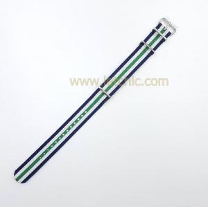 สายนาฬิกา ผ้านาโต้ สีน้ำเงิน ขาว เขียว