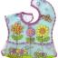 ผ้ากันเปื้อนเด็กพร้อมกระเป๋าด้านหน้าSassy EZ-Clean Pocketed Feeding Bib - Flowers ลายดอกไม้