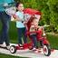รถสามล้อ พร้อมที่ยืนด้านหลัง 4-In-1 Radio Flyer Deluxe Ride & Stand Stroll 'N Trike , Designed for 2 Riders
