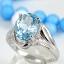 แหวนพลอยผู้หญิงเงินแท้ 92.5 เปอร์เซ็น ฝังด้วยพลอยสกายบลูโทปาซแท้ thumbnail 1