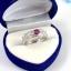 แหวนพลอยผู้หญิงเงินแท้ 92.5 เปอร์เซ็น ฝังด้วยพลอยทับทิมแท้ thumbnail 7