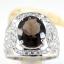 แหวนพลอยผู้ชายเงินแท้ 92.5 เปอร์เซ็น ฝังด้วยพลอยสโมกกี้ควอทซ์แท้ thumbnail 2