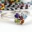 แหวนพลอยผู้หญิงเงินแท้ 92.5 เปอร์เซ็น ฝังด้วยพลอยแท้คละสี thumbnail 6
