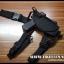 ซองปืนพกปลดเร็วรัดต้นขา สำหรับปืนสั้น หลายๆรุ่น (ปรับขนาดได้)