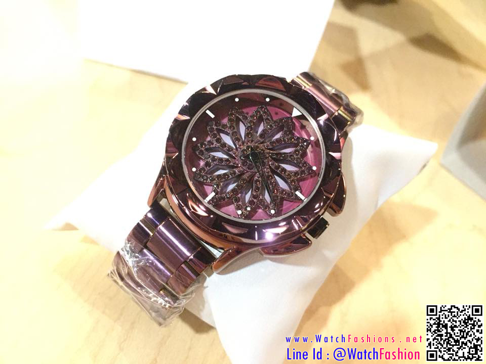 นาฬิกาข้อมือแฟชั่นเกาหลี ผู้หญิง GEDI ใบพัด ม่วงประกาย กันน้ำ + ของแท้