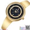 นาฬิกาข้อมือแฟชั่นนำเข้า ผู้หญิง WEIQIN สี GOLD สไตล์หรู กันน้ำ + รับประกัน