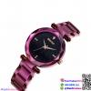 นาฬิกาข้อมือแฟชั่นนำเข้า ผู้หญิง WEIQIN สีม่วงประกาย กันน้ำ + ของแท้