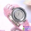 นาฬิกาข้อมือแฟชั่นนำเข้า ผู้หญิง WEIQIN Pink สาย เซรามิก สวยหรู กันน้ำ + รับประกัน