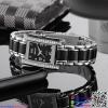 นาฬิกาข้อมือแฟชั่นนำเข้า ผู้หญิง WEIQIN สีดำ กันน้ำ + รับประกัน
