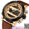 นาฬิกาข้อมือแฟชั่นนำเข้า ผู้ชาย NAVIFORCE สองระบบ แบบที่ 5 มาดแมน แนวสปอร์ต สายหนังผสม กันน้ำ