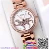 นาฬิกาข้อมือแฟชั่นนำเข้า ผู้หญิง GEDI Rose Gold กันน้ำ + ของแท้ (ลายเสือ)