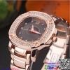 นาฬิกาข้อมือแฟชั่นนำเข้า ผู้หญิง GEDI สีโรสโกลหน้าดำ กันน้ำ + ของแท้