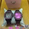 นาฬิกาข้อมือแฟชั่นนำเข้า ผู้หญิง JUNJIA สีม่วงประกาย กันน้ำ + ของแท้