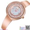 นาฬิกาข้อมือแฟชั่นนำเข้า ผู้หญิง WEIQIN สี ROSE GOLD สไตล์หรู กันน้ำ + รับประกัน