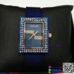 นาฬิกาข้อมือแฟชั่นนำเข้า ผู้หญิง JUNJIA สีน้ำเงิน กันน้ำ + ของแท้