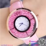 นาฬิกาข้อมือแฟชั่นนำเข้า ผู้หญิง GEDI สีชมพู กันน้ำ + ของแท้