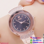 นาฬิกาข้อมือแฟชั่นนำเข้า ผู้หญิง GEDI สีทอง หน้าดำ กันน้ำ + ของแท้