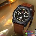 นาฬิกาข้อมือแฟชั่นนำเข้า ผู้ชาย NAVIFORCE สีดำ สายน้ำตาล เทห์ มีสไตล์ แนว สปอร์ต กันน้ำ + ของแท้ + ประกัน