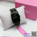 นาฬิกาข้อมือแฟชั่นนำเข้า ผู้หญิง JUNJIA สีดำ กันน้ำ + ของแท้