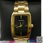 นาฬิกาข้อมือแฟชั่นนำเข้า ผู้หญิง JUNJIA สีทอง กันน้ำ + ของแท้