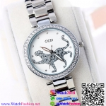 นาฬิกาข้อมือแฟชั่นนำเข้า ผู้หญิง GEDI Silver กันน้ำ + ของแท้ (ลายเสือ)