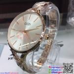 นาฬิกาข้อมือแฟชั่นนำเข้า ผู้หญิง GEDI สีโรสโกล กันน้ำ + ของแท้