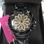 นาฬิกาข้อมือแฟชั่นเกาหลี ผู้หญิง JUNJIA กังหัน สีดำ กันน้ำ + ของแท้