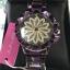 นาฬิกาข้อมือแฟชั่นเกาหลี ผู้หญิง JUNJIA กังหัน สีม่วงประกาย กันน้ำ + ของแท้