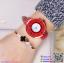 นาฬิกาข้อมือแฟชั่นนำเข้า ผู้หญิง GEDI สีแดง กันน้ำ + ของแท้