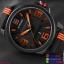 นาฬิกาข้อมือแฟชั่น ผู้ชาย NAVIFORCE สีส้ม สายซิลิโคน กันน้ำ + ของแท้