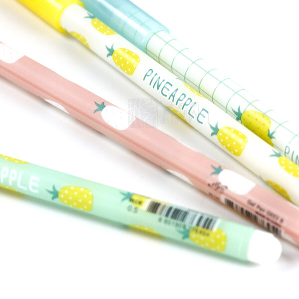 รูปภาพสินค้า ปากกาเจลลายสับปะรด 0.5 สีน้ำเงิน Elfen รุ่น G053B
