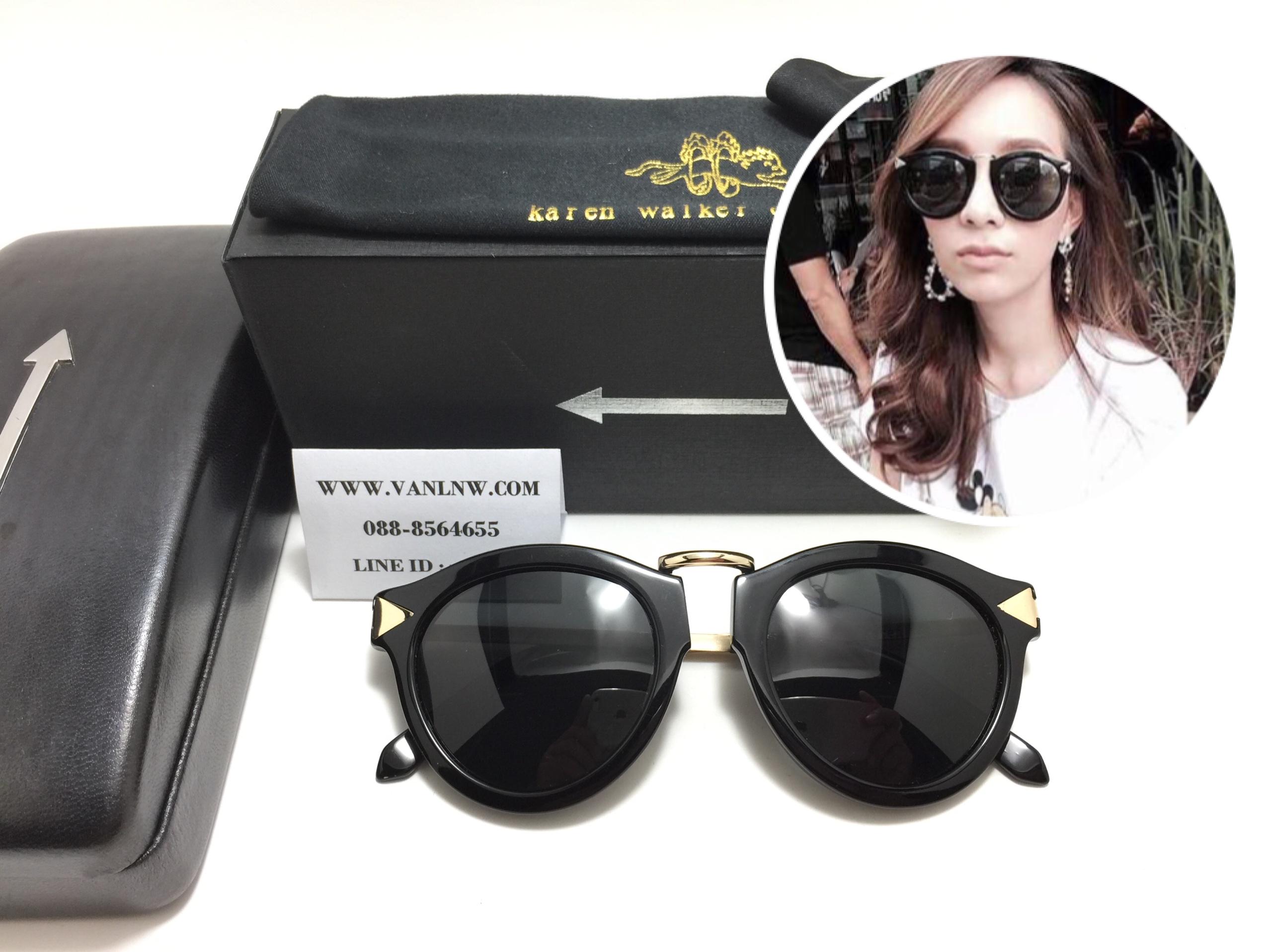 e36c0545d1a3 แว่นกันแดด Karen Walker Harvest Black <ดำ> - Eyeconer : Inspired by ...